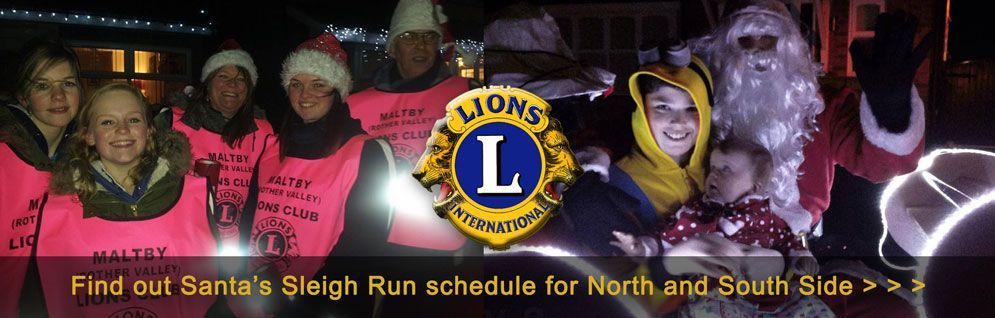 Maltby Lions Christmas Sleigh Run 2016