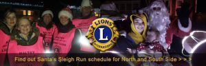 Christmas Sleigh Runs by Maltby (Rother Valley) Lions Club