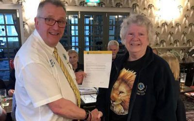 District Governor presents Maltby Lions with Special Awards