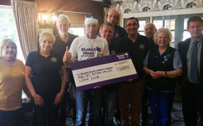 Maltby Lions make a donation to Bluebell Wood Children's Hospice