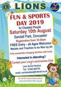 Lions Sports day for Disabled 2019