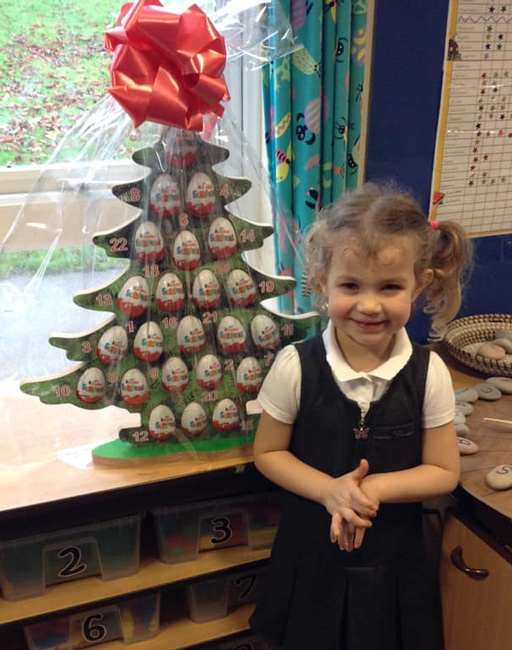 The winner of our Advent Tree raffle at Anston Hillcrest Primary School. Well done, and thank you to the school for fundraising for Maltby Rother Valley Lions.