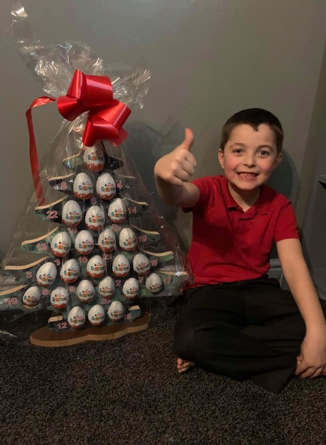 One of the winners of our Advent tree raffle at Maltby Manor Academy. Well done, and thank you to the school for fundraising for Maltby Rother Valley Lions.