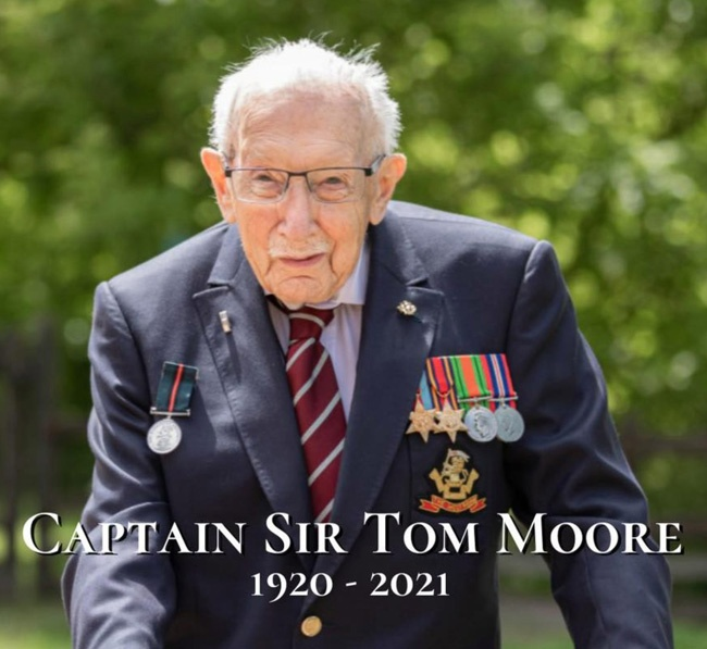 RIP Sir Tom, an inspiration to us all!