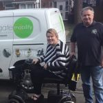 MRVL help Joanne with her new mobility scooter