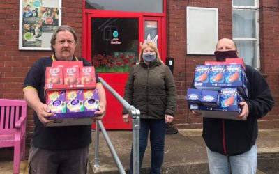 MRVL support Dinnington Salvation Army Food Bank with Easter Eggs