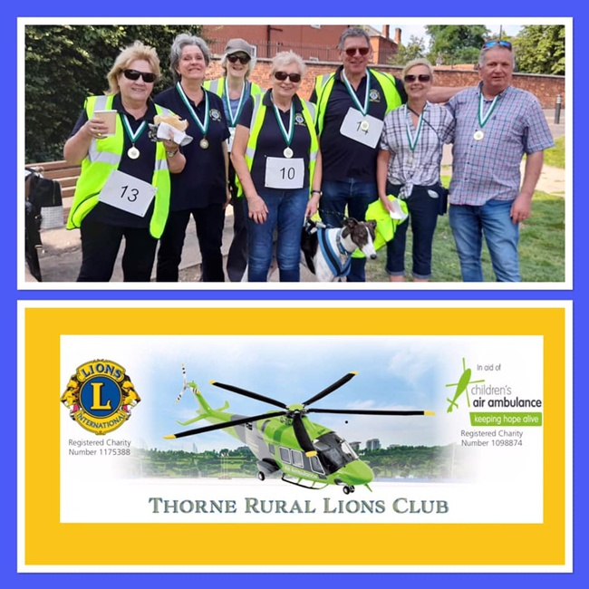 MRVL join Thorne Rural Lions Club on Charity Walk